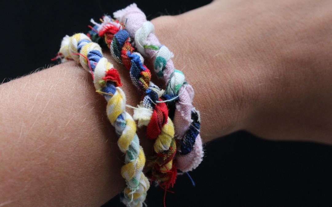 Fabric Scrap Wrap Bracelet- DIY